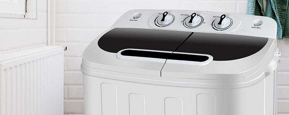 SUPER DEAL SD2304 Compact Mini Twin Tub Washing Machine