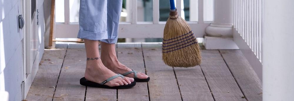 Sweeping.
